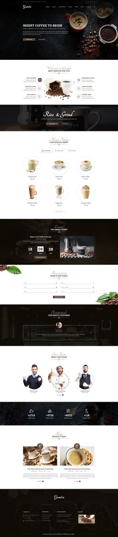 Gamba is a powerful, modern and creative PSD #template, designed for food, bakery, #cafe, pub & #restaurant websites. Download Now!