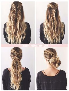 2 braids, 3 ways // In need of a detox? Get 10% off your teatox using our discount code 'Pinterest10' at skinnymetea.com.au