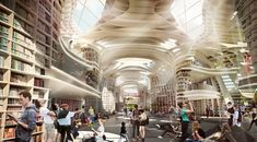 Hyde Park London, Organic Structure, Immersive Experience, Library Design, Shopping Mall, 21st Century, Istanbul, Street View, Architecture