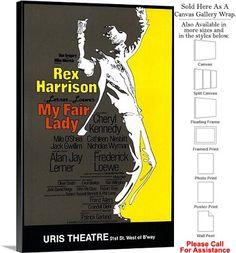 "My Fair Lady 1981 Famous Broadway Musical Show Canvas Wrap 20"" x 30"""
