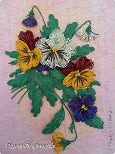 *QUILLING ~ Painting mural drawing Quilling Summer Magic Photo Paper 1