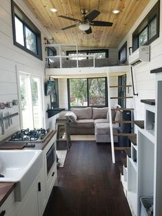 Two Waterfront Tiny Homes on Lake Travis Vacation Tiny House Plans,. - House Plans, Home Plan Designs, Floor Plans and Blueprints Tiny Living Rooms, Tiny House Living, Living Room Designs, Tiny House Movement, Small Room Design, Tiny House Design, Casa Loft, Tiny House Plans, Trendy Home