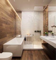24 ideas for bathroom shower room sinks Wood Tile Shower, Bathroom Floor Tiles, Wood Bathroom, Bathroom Layout, Bathroom Interior Design, Modern Bathroom, Small Bathroom, Wood Tiles, Bathroom Ideas