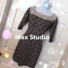 "Max Studio Dress Max Studio Mini dress, 30"" from shoulder to hem, this adorable dress is made from a rayon/polyester/spandex blend. It's super soft, stretchy, comfy and cute! Max Studio Dresses Mini"