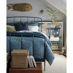 Rory Blue Bed in Essentials for New Spaces | Crate and Barrel