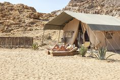Tents on the beach?! Yes. We are loving this brand new bohemian restaurant set on the sparkling sea.