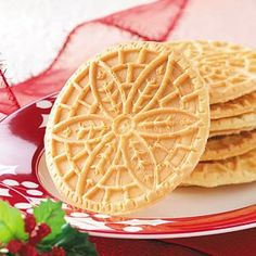 Hazelnut Pizzelle'