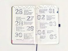 bullet journal daily page inspiration, nederland