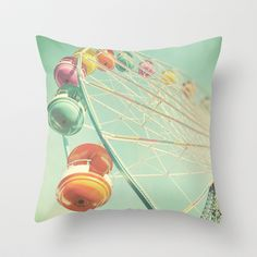 Rainbow Wheel Throw Pillow by Bomobob - $20.00