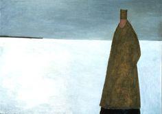 Le visiteur du soir, Huile sur toile de Jean-Paul Lemieux, 1956
