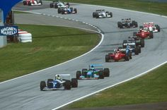 1994 GP F1 Imola (i) Ayrton Senna leads the pack early...