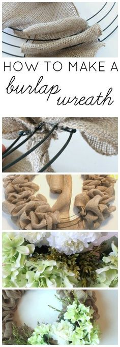 Y'all, this wreath is so simple and easy, you HAVE to make one! This how to make a burlap wreath tutorial is awesome!! Farmhouse Made