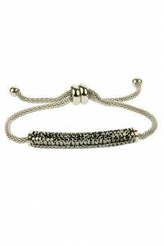 RVS Armband Mariah - Grey - bracelet, available at sazou.nl