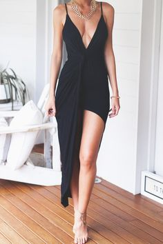 hot+party+dress+black+girly+style