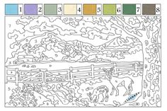 paint by numbers free printables for adults - Google Search