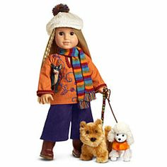 American Girl® Dolls: Julie's Dog Walking Outfit & Accessories