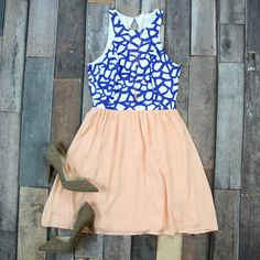 Shop our NEW For All Time Sundress in Peach for ONLY $39! Free Shipping ALWAYS!