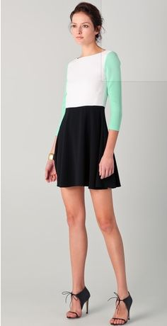 4ae19e4919f8 #skaterskirt #colorblock #shoes #ankle Dress Outfits, Mintgrön, Klä På Sig