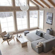 Uno chalet per i design addicted - Interior Break Chalet Design, House Design, Interior Architecture, Interior Design, Living Spaces, Living Room, Cabin Interiors, Wooden House, Scandinavian Home