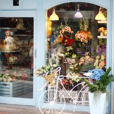 Pretty little flower shop.