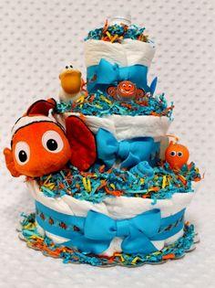 nemo diaper cake more diaper cakes baby finding nemo diaper cake baby