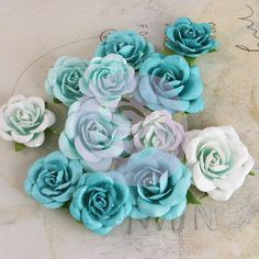 Interlude Turquoise - Mulberry Paper Flowers - Flowers - Products - Shop Products - Store