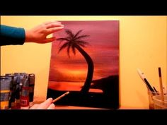 ▶ How to paint a beach sunset STEP by STEP - YouTube