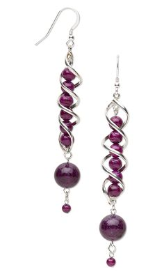 Jewelry Design - Earrings with Riverstone Gemstone Beads and Sterling Silver Focals - Fire Mountain Gems and Beads