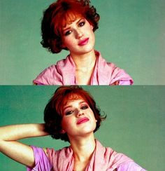 """Molly Ringwald..I always get told, """"Has anyone ever told you that you look like Molly Ringwald?"""" Yes, yes they have"""