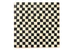 S/4 Checks Coasters, Black/White on OneKingsLane.com