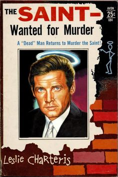 The Saint - Wanted for Murder by Leslie Charteris,1960s book cover