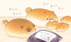 Manga Drawing Tips 画像 - Cute Food Drawings, Cute Animal Drawings Kawaii, Kawaii Drawings, Kawaii Chibi, Kawaii Art, Cute Images, Cute Pictures, Dog Bread, Hachiko