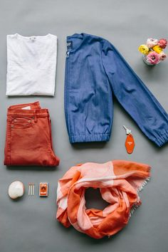 We will gladly replace our heavy coat for lightweight, colorful layers like this cool denim bomber and spring scarf. Shop new arrivals from Gap.