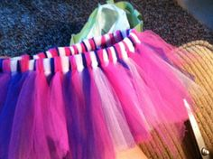 DIY tutu ... fun for races and gifts for baby girls [Update: this tutorial worked really well. loved how my tutu came out!]
