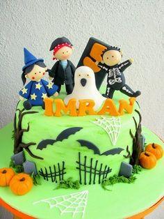 Halloween cum birthday cake  Cake by joannefam