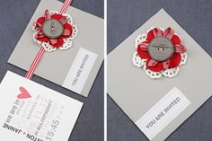 Chrystalace Wedding Stationery Coral and grey invitation with grey envelope and inserts. Friend Wedding, Wedding Stationery, Envelope, Typography, Coral, Events, Invitations, Couture, Friends
