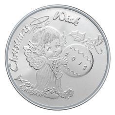 2013 Christmas Wish Angel 1oz .999 Silver Medallion