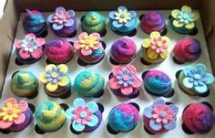 cupcakes + flowers + girly colors