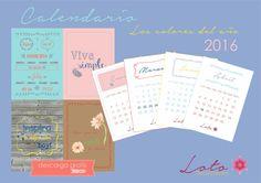Los colores del año 2016. PANTONE Descarga GRATIS calendario 2016
