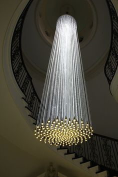 LIGHT: Bruce Munro at Cheekwood we love this lighting! home interior lighting and house lights decor. Cool Lighting, Modern Lighting, Lighting Design, Stairway Lighting, Office Lighting, Deco Luminaire, Luminaire Design, Light Fittings, Light Fixtures