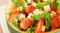 watermelon-fetacheese salad