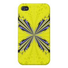 Fractal Butterfly iPhone 4 Matte Finish Case