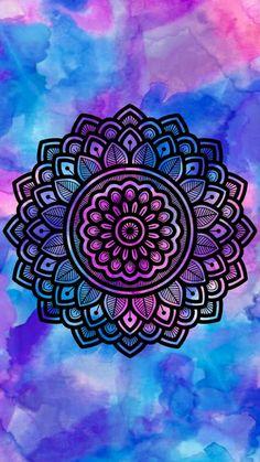 15 Powerful mandalas to take as wallpaper - Best Post Mandala Wallpaper, Wallpaper World, Mandala Artwork, Mandala Painting, Mandala Drawing, Colorful Wallpaper, Mandala Doodle, Mandala Art Lesson, Doodle Art
