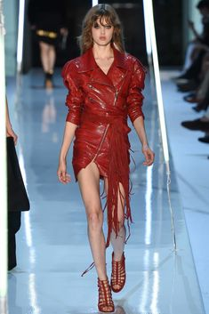 Lindsey Wixson Alexandre Vauthier Fall 2015 Couture