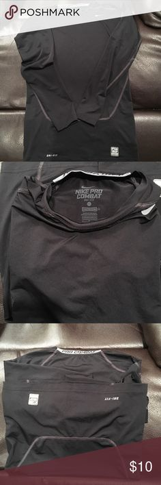 NIKE PRO COMBAT long sleeve shirt Awesome NIKE PRO COMBAT long sleeve shirt. Great condition, thick stitching, men's large. DRI-FIT COMPRESSION shirt. Nike Shirts Tees - Long Sleeve
