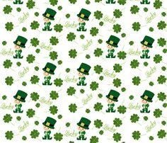 Lucky  / 4 leaf clover fabric by paragonstudios on Spoonflower - custom fabric
