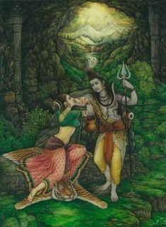 Shiva and Sati Shiva Parvati Images, Mahakal Shiva, Shiva Art, Hindu Art, Krishna, Om Namah Shivaya, Rudra Shiva, Shiva Lord Wallpapers, Spiritual Paintings