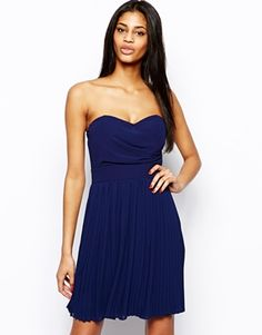 Buy TFNC Prom Dress With Pleated Skirt at ASOS. Get the latest trends with ASOS now. Homecoming Dresses, Bridesmaid Dresses, Bridesmaids, Tfnc, Strapless Dress Formal, Formal Dresses, Stunning Dresses, Navy Dress, Special Occasion Dresses