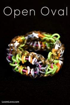 How to Make a Rainbow Loom Open Oval