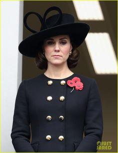 Kate Middleton Attends Remembrance Sunday Memorial, November 2017